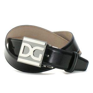 Dolce&Gabbana(ドルチェ&ガッバーナ) ベルト BC2500 QUADRATA MONOCOLO ブラック 95