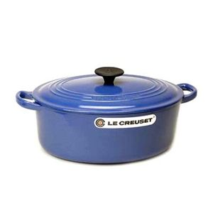 Le Creuset(ル クルーゼ) キッチン・鍋・パン ココットオーバル25cm2502-25 ブルー