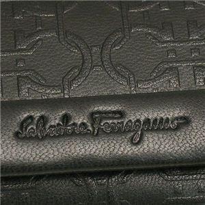 02フェラガモ/Ferragamo キーケース 668637 MAXIME LUXOR/ブラック