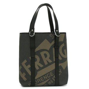 Ferragamo(フェラガモ) トートバッグ 248622 MAXI ブラック/ブラウン