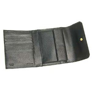 01プラダ/PRADA 三つ折り財布(小銭入れ付)/SAFFIANO METAL ORO 1M0170 ブラック