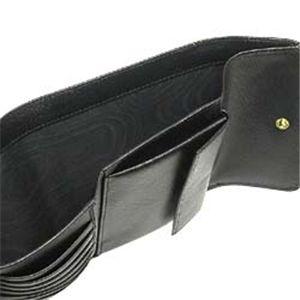 02プラダ/PRADA 三つ折り財布(小銭入れ付)/SAFFIANO METAL ORO 1M0170 ブラック