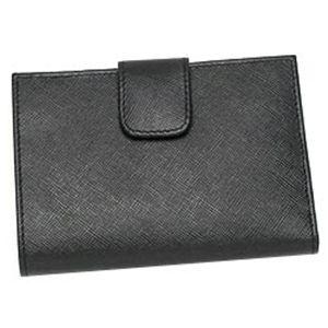 PRADA(プラダ) Wホック財布 SAFFIANO METAL ORO 1M0523 ブラック