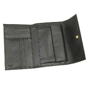 01プラダ/PRADA 二つ折り財布(小銭入れつき)/ SAFFIANO ORO 1M0510/ブラック