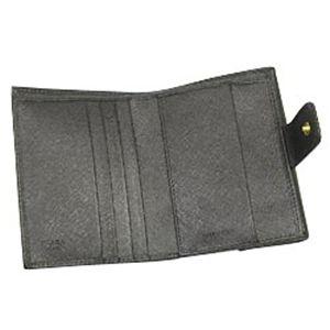 01プラダ/PRADA Wホック財布 SAFFIANO ORO 1M0523/ブラック