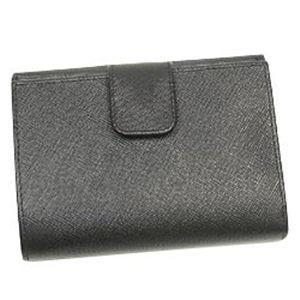 PRADA(プラダ) Wホック財布 SAFFIANO ORO 1M0523 ブラック