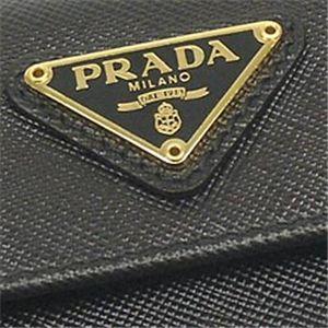 04プラダ/PRADA Wホック財布 SAFFIANO ORO 1M0523/ブラック