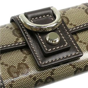 Gucci(グッチ) キーケース NEW ABBEY 141419 BASIC KEY-CASE 9643 ベージュ/ダークブラウン
