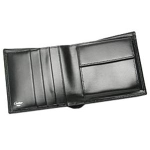 01カルティエ/二つ折り財布(小銭入れ付) PASHA DE CATIER L3000137 BANKNOTE/COINS/CC/ブラック
