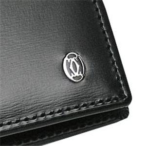 03カルティエ/二つ折り財布(小銭入れ付) PASHA DE CATIER L3000137 BANKNOTE/COINS/CC/ブラック