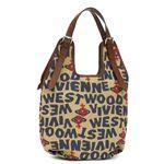 Vivienne Westwood(ヴィヴィアンウエストウッド) 二つ折り財布(小銭入れ付) STONEAGE 4818 ベージュ