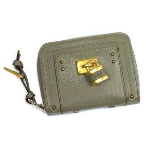 Chloe(クロエ) 二つ折り財布(小銭入れ付) PADDINGTON 7EPM09 647 グリーン