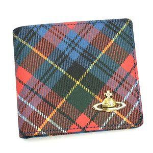 Vivienne Westwood(ヴィヴィアンウエストウッド) 二つ折り財布(小銭入れ付) DERBY 730 カレドニア