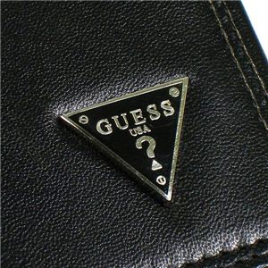 04ゲス/GUESS 長財布 OBSESSION Yen Secretary w/zipper/ブラック