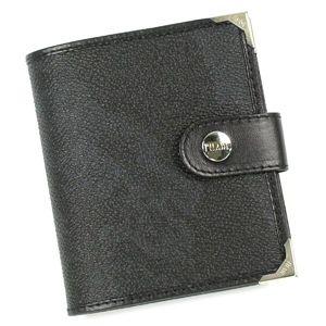 PrimaClasse(プリマクラッセ) 二つ折り財布(小銭入れ付) 9346 ブラック