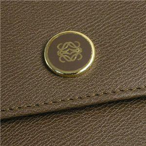 Loewe(ロエベ) Wホック財布 ANAGRAM SIGNATURE 118.30.A54 BILLFOLD PURSE ブラウン
