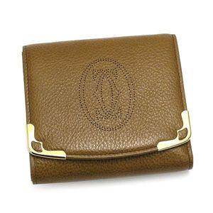 Cartier(カルティエ) 三つ折り財布(小銭入れ付) MARCELLO L3000812 キャメル