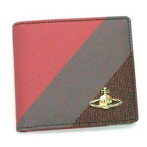 Vivienne Westwood(ヴィヴィアンウエストウッド) 二つ折り財布(小銭入れ付) DERBY 730 ダークカーキー