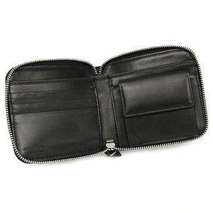 01フェラガモ/Ferragamo二つ折り財布(小銭入付)OPANKシント 668622 LOS ANGELS 415326/ブラック