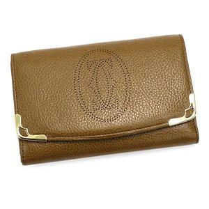 商品写真カルティエ/Cartier 二つ折り財布(小銭入れ付) MARCELLO L3000816/キャメル
