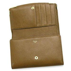 01カルティエ/Cartier 二つ折り財布(小銭入れ付) MARCELLO L3000816/キャメル