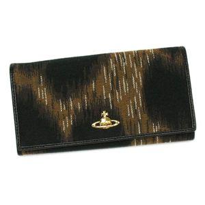 Vivienne Westwood(ヴィヴィアンウエストウッド) 長財布 LEOPARD 1032 ブラック/ブラウン