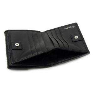 Christian Dior(クリスチャン ディオール) 二つ折り財布(小銭入れ付) LADY DIOR 43022 NDA3 ブラック