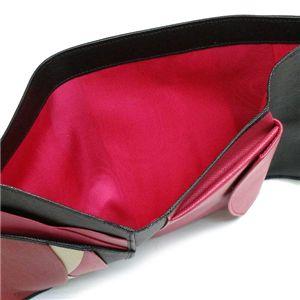 Prada(プラダ) 三つ折り財布(小銭入れ付) SAFFIANO MULTICOLOR 1M0510 F0002 ブラック/レッド