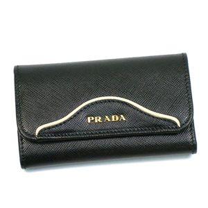 Prada(プラダ) キーケース SAFFIANO BICOLORE 1M0222 F0T7M ブラック/ベージュ