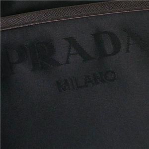 03プラダ/PRADA ショルダーバッグ TESSUTO BOW VA0795 F0892/ダークブラウン/ブラック