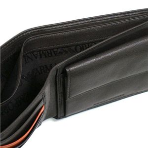 Emporio Armani(エンポリオ・アルマーニ) 二つ折り財布(小銭入れ付) YC043 YEM122 87131 ダークブラウン