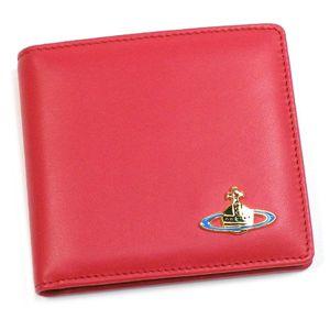 Vivienne Westwood(ヴィヴィアンウエストウッド) 二つ折り財布(小銭入れ付) NAPPA 730 ピンク/ゴールド
