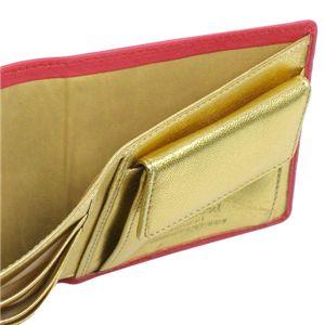 02Vivienne Westwood 二つ折り財布(小銭入れ付) NAPPA 730/ピンク/ゴールド