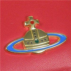 03Vivienne Westwood 二つ折り財布(小銭入れ付) NAPPA 730/ピンク/ゴールド