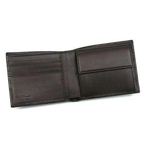 01フェラガモ/Ferragamo 二つ折り財布(小銭入れ付) GAMMA 668734 433495/ブラウン