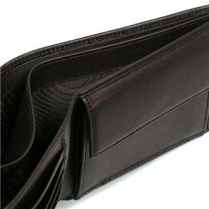02フェラガモ/Ferragamo 二つ折り財布(小銭入れ付) GAMMA 668734 433495/ブラウン