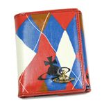 Vivienne Westwood(ヴィヴィアンウエストウッド) Wホック財布 NEW HARLEQUIN 737 レッド