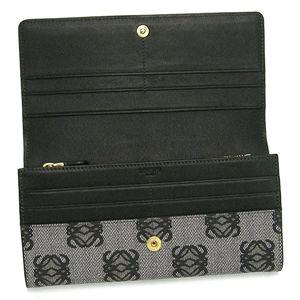 Loewe(ロエベ) 長財布 ANAGRAM COATED CANVA 168.80.966 CONTINENTAL WALLET 1100 ブラック