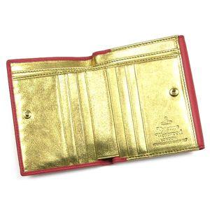 01ヴィヴィアン ウエストウッド/Vivienne Westwood Wホック財布 NAPPA 737/ピンク/ゴールド
