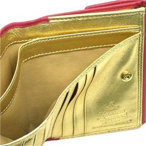 03ヴィヴィアン ウエストウッド/Vivienne Westwood Wホック財布 NAPPA 737/ピンク/ゴールド