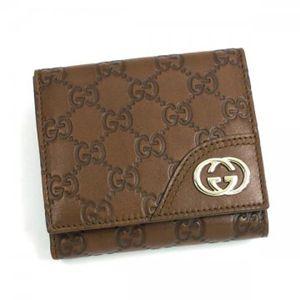 Gucci(グッチ) Wホック財布 LADIES NEW BRITT 181594 2535 ライトブラウン