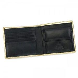 Vivienne Westwood(ヴィヴィアンウエストウッド) 二つ折り財布(小銭入れ付) NAPPA 730V  ゴールド H10.5×W11×D2.5