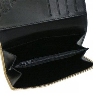 Vivienne Westwood(ヴィヴィアンウエストウッド) 二つ折り財布(小銭入れ付) NAPPA 746V  ゴールド H9.5×W13.5×D2.5