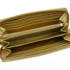 Vivienne Westwood(ヴィヴィアンウエストウッド) 長財布 NAPPA 5140V  ゴールド H10×W19×D2.5