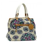 JUICY COUTURE(ジューシークチュール) トートバッグ CARRY OVER CANVAS TO YHRU1978 ホワイト H41×W48×D20