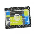 DIESEL(ディーゼル) 二つ折り財布(小銭入れ付) MONEY-MONEY XL59 ブラック/グリーン H10×W12.5×D2.5