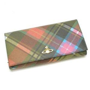 【2012年11月12日まで期間限定値下げ】Vivienne Westwood(ヴィヴィアンウエストウッド) 長財布 DERBY 1032V H9.5×W19×D2.5