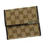 Gucci(グッチ) Wホック財布 BLAZON 257015 9643 ベージュ/ダークブラウン