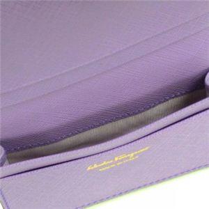 Ferragamo(フェラガモ) カードケース GANCINI ICONA VITELL 22A552 455752 ライトパープル