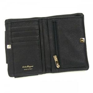 Ferragamo(フェラガモ) 二つ折り財布(小銭入れ付) VARA ICONA 22B177 462909 ブラック